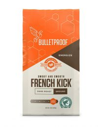Bulletproof FRENCH KICK DARK ROAST GROUND COFFEE 12OZ, (Smooth and sweet with smoky chocolate notes)