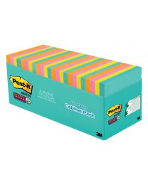 Post-it Super Sticky Notes, 3x3 Sticky Notes 24 Pads/Pack, 70 Sheets/Pad Miami Collection