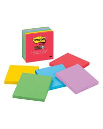 Post-it Super 2X Sticking Power Sticky Notes, 3x3 Sticky Notes 6 Pads/Pack, 65 Sheets/Pad