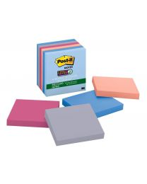 Post-it Super 2X Sticking Recycled Sticky Notes, 3x3 Sticky Notes 6 Pads/Pack, 65 Sheets/Pad