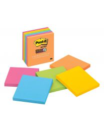 Post-it Super 2X Sticking  Sticky Notes, 3x3 Sticky Notes 6 Pads/Pack, 65 Sheets/Pad