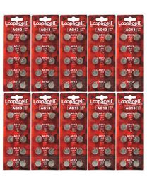 New 100 Pack genuine LOOPACELL alkaline  LR44 AG13 357 Button-Cell Batteries