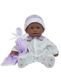 JC Toys, La Baby 11-inch African American Washable Soft Body Play Doll For Child