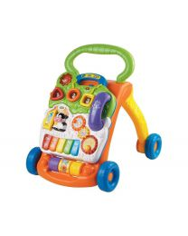 Baby Push Walker Sit-to-Stand VTech Orange Interactive Learning Walker Toddler Toys