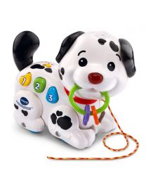New VTech Pull and Sing Puppy Toy for 1 to 3 Year Old Toddlers Baby Girl Boy B&W