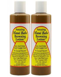 2 X pacK Original Maui Babe Browning Outdoor Tanning Lotion -8oz Fresh, New