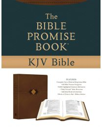 The Bible Promise Book KJV Bible [Hickory Diamond] IMITATION LEATHER – 2021 by Compiled by Barbour Staff