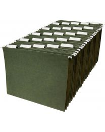 Home office Hanging File Folders - Letter Size, Green, 25-Pack