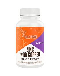 Bulletproof Zinc with Copper, Reliable and Quick Source of Energy 60 Capsules