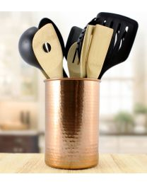 Copper Plated Kitchen Utensil Holder / Tool Caddy, Store All Your Wooden Spoons