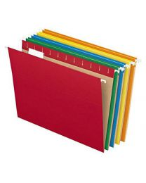Pendaflex Recycled Hanging File Folders, Letter Size, Assorted Colors, 1/5 Cut