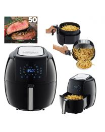 New GoWISE USA 5.8-Quarts 8-in-1 Electric Air Fryer XL + 50 Recipes for your Air