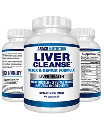 Arazo Nutrition Liver Cleanse Detox & Repair Formula 22 Herbs Support Supplement