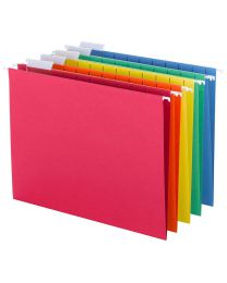 New Smead Hanging File Folders with Tab, 1/5-Cut Adjustable Tab, Letter Size
