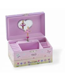 Fairy Tale Kids Musical Jewelry Box - Pink Glittery Kids Music Box With Ring